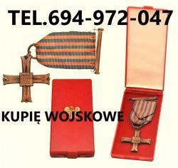 KUPIĘ WOJSKOWE STARE ODZNACZENIA,ODZNAKI,MEDALE,ORDERY TELEFON 694-972-047